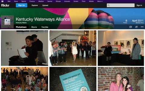 Screenshot of Flickr Page flickr.com - Flickr: Kentucky Waters' Photostream - captured Oct. 25, 2014