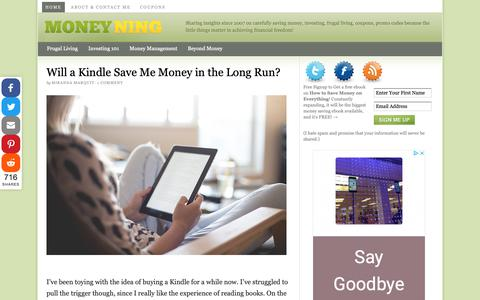 Screenshot of Home Page moneyning.com - Personal Finance Blog by Money Ning — A personal finance blog where we share insights on carefully saving money, investing, frugal living, coupons, promo codes because the little things matter in achieving financial freedom! - captured Nov. 4, 2018