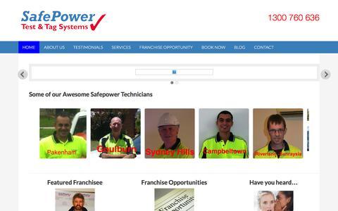 Screenshot of Home Page safepower.net.au - Home - SafePower - captured Feb. 3, 2016
