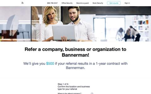 Screenshot of bannerman.com - Security Guard Services - Bannerman - captured May 24, 2016