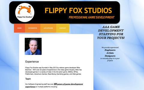 Screenshot of Services Page flippyfoxstudios.com - Our Experience - captured Jan. 8, 2016