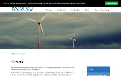 Screenshot of Jobs Page pureleapfrog.org - Pure Leapfrog   Careers - captured Sept. 27, 2018