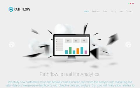 Screenshot of Home Page pathflow.co - Pathflow Analytics | Business intelligence, big data analysis and retail technology services. - captured July 11, 2014