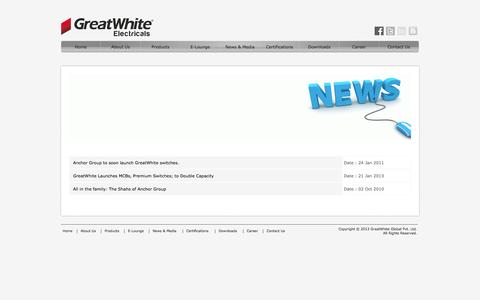 Screenshot of Press Page great-white.in - GreatWhite Launches MCBs, Premium Switches; to Double Capacity. - captured Feb. 2, 2016