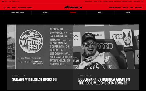 Screenshot of Press Page nordica.com - News  - Nordica - Skis and Boots – Official website - captured Oct. 19, 2018