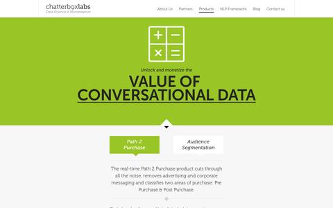 Screenshot of Products Page chatterbox.co - Products - Chatterbox Labs - captured June 17, 2015