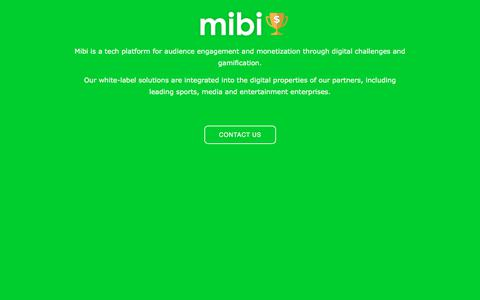 Screenshot of Home Page mibi.com - mibi - captured Sept. 25, 2018