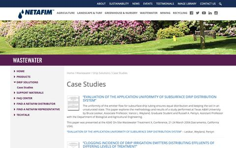 Screenshot of Case Studies Page netafimusa.com - Case Studies - Netafim USA - captured Oct. 19, 2018