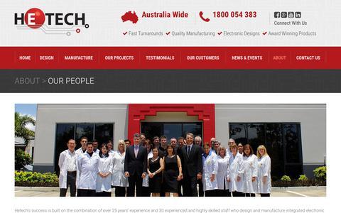 Screenshot of Team Page hetech.com.au - Our People - Hetech - captured Sept. 25, 2018