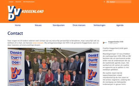 Screenshot of Contact Page vvdkoggenland.nl - Contact de vertegenwoordigers van de - VVD Koggenland - captured Nov. 17, 2018