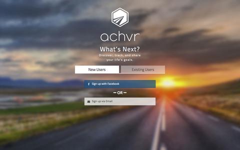 Screenshot of Signup Page achvrs.com - Achvr - captured Dec. 16, 2014