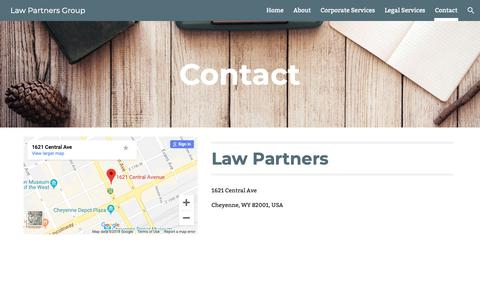 Screenshot of Contact Page google.com - Law Partners Group - Contact - captured Dec. 13, 2018