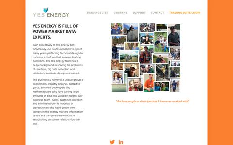 Screenshot of Team Page yesenergy.com - The Team — Yes Energy - captured Dec. 11, 2018