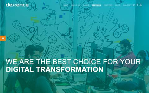 Screenshot of Services Page dexence.com - Dexence | Custom development software for your Digital Transformation - captured July 8, 2018