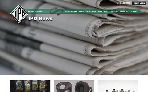 Screenshot of Press Page ipdparts.com - News – IPD - captured Oct. 2, 2018
