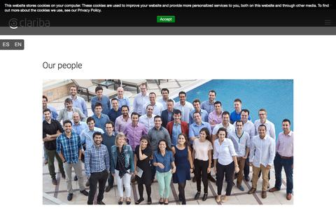 Screenshot of Team Page clariba.com - Our people - captured July 18, 2018