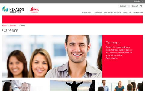 Screenshot of Jobs Page leica-geosystems.com - Careers - captured Jan. 22, 2016