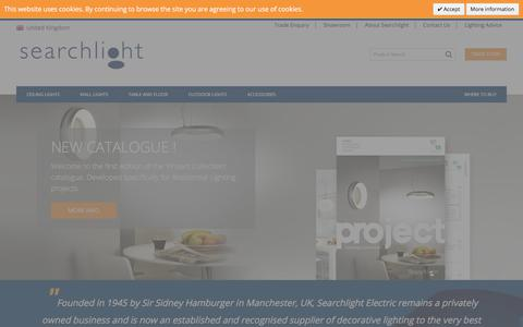 Screenshot of Home Page searchlightelectric.com - Home page - captured June 16, 2017
