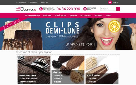 Screenshot of Home Page 3d-extensions-cheveux.com - Extensions 3DCoiffure - captured Sept. 19, 2014