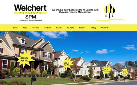 Screenshot of Home Page memphispropertymanagement.com - SPM Property Management & Rental Services - Call (901) 800-8273 - captured Sept. 30, 2018