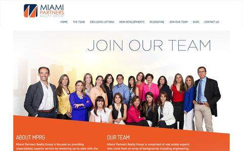 Screenshot of Signup Page miami-partners.com - Join Us. Miami Partners Realty - captured Feb. 13, 2016