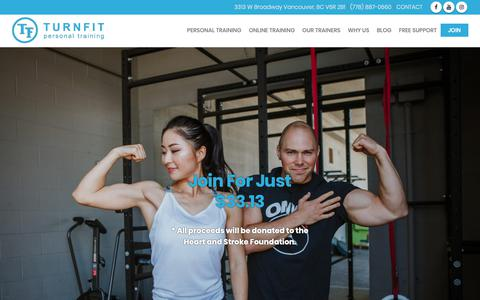 Screenshot of Signup Page turnfit.ca - Join Turnfit for Fitness   Best Personal Trainer Vancouver - captured Oct. 18, 2018