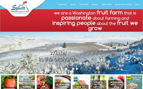 Screenshot of Home Page stemilt.com - Washington Fruit Farm | Apples, Cherries, Pears | Stemilt - captured Feb. 7, 2016