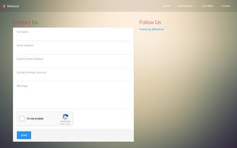 Screenshot of Contact Page redooor.com - Redooor, Web Design And Development Studio based in Singapore - captured Jan. 10, 2016