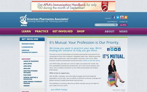 Screenshot of Signup Page pharmacist.com - It's Mutual. Your Profession is Our Priority. | American Pharmacists Association - captured Sept. 23, 2014