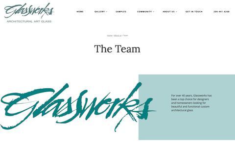 Screenshot of Team Page glassworksinc.com - Team - Glasswork Inc - captured Nov. 5, 2018