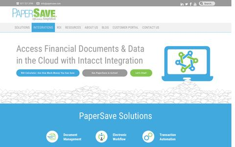 Document Management for Intacct | PaperSave