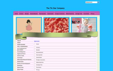 Screenshot of Site Map Page Menu Page tinstarcompany.com - Map - captured Oct. 26, 2014