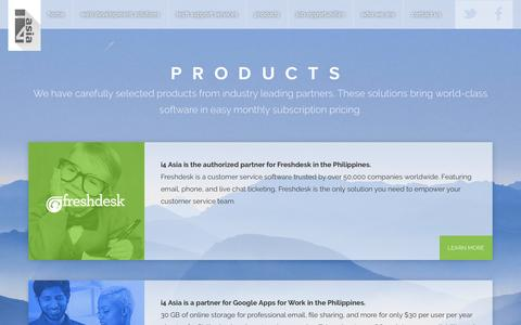 Screenshot of Products Page i4asiacorp.com - Products | i4 Asia Incorporated - captured April 18, 2016