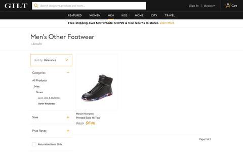 Men's Other Footwear