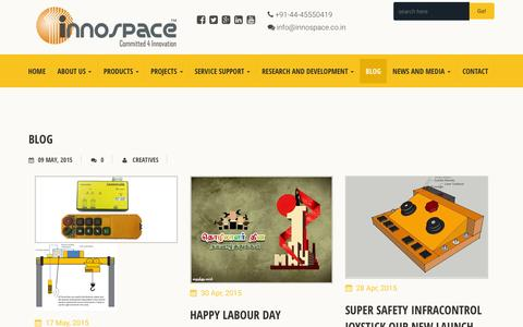 Screenshot of Blog innospace.co.in - Blog – Innospace - captured Feb. 11, 2016