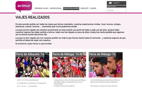 Screenshot of Blog avimur.com - Viajes realizados - captured Sept. 30, 2014