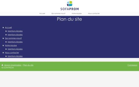 Screenshot of Site Map Page sofaprom.fr - SOFAPROM - captured Dec. 15, 2015
