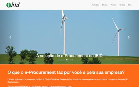 Screenshot of Home Page ibid.com.br - IBID e-Procurement - captured Sept. 16, 2015
