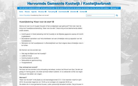 Screenshot of hervormdkootwijkerbroek.nl - Huwelijkskring 'Klaar voor de start' -  Hervormde Gemeente Kootwijk / Kootwijkerbroek - captured April 19, 2016