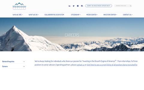 Screenshot of Jobs Page starmountaincapital.com - Careers - Star Mountain Capital - captured Dec. 15, 2016