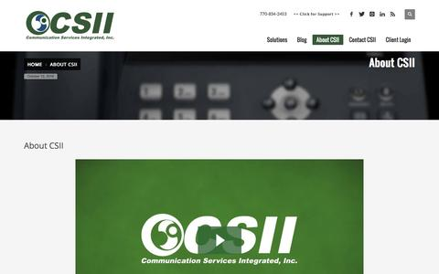 Screenshot of About Page csii.net - Welcome to CSII - About Our Company - captured Oct. 12, 2016