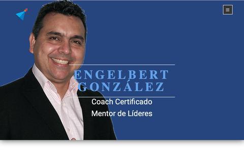 Screenshot of Home Page engelbertgonzalez.com - Engelbert González | Coach Certificado | Argentina - captured Dec. 15, 2018