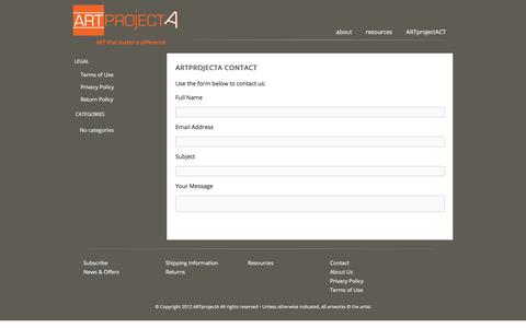 Screenshot of Contact Page artprojecta.com - ART Project A | Art on line | Contemporary Art Gallery - captured July 28, 2018