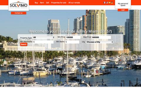 Screenshot of Home Page real-estate-miami-solvimo.com - Real Estate Miami - Real Estate agency Miami - captured Oct. 18, 2015
