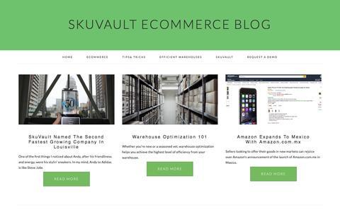 Screenshot of Blog skuvault.com - SkuVault eCommerce Blog - captured Oct. 31, 2016