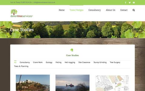 Screenshot of Case Studies Page devontreeservices.co.uk - Tree Removal Case Studies | Devon Tree Services Ltd - captured Aug. 6, 2018