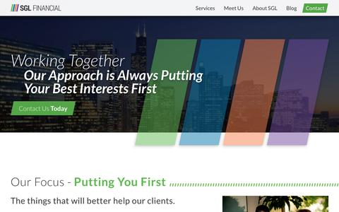 Screenshot of Services Page sglfinancial.com - Working Together l SGL Financial, Buffalo Grove, IL - captured Dec. 28, 2017