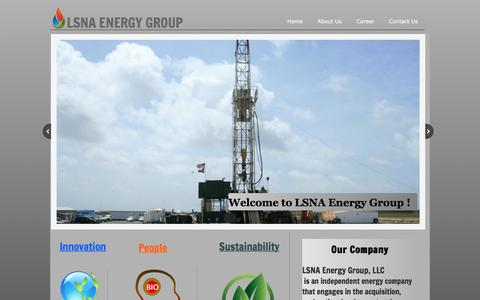 Screenshot of Home Page lsnaenergy.com - LSNA Energy Group-Home - captured Jan. 23, 2016