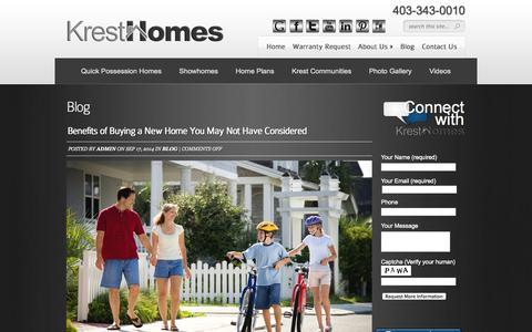Screenshot of Blog kresthomes.com - Blackfalds Real Estate, Blackfalds Homes for Sale, Blog   - captured Sept. 30, 2014