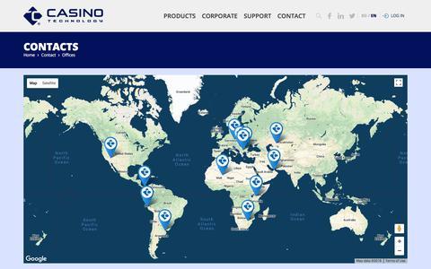 Screenshot of Contact Page casino-technology.com - Casino Technology - captured May 29, 2018